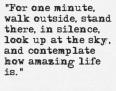 walk outside